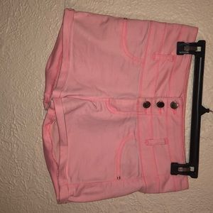 Pink high wasted cuff Charlotte Russe shorts